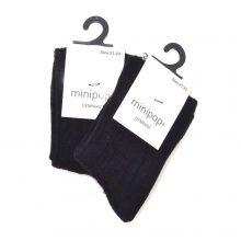 Minipop sokken zwart 18-36