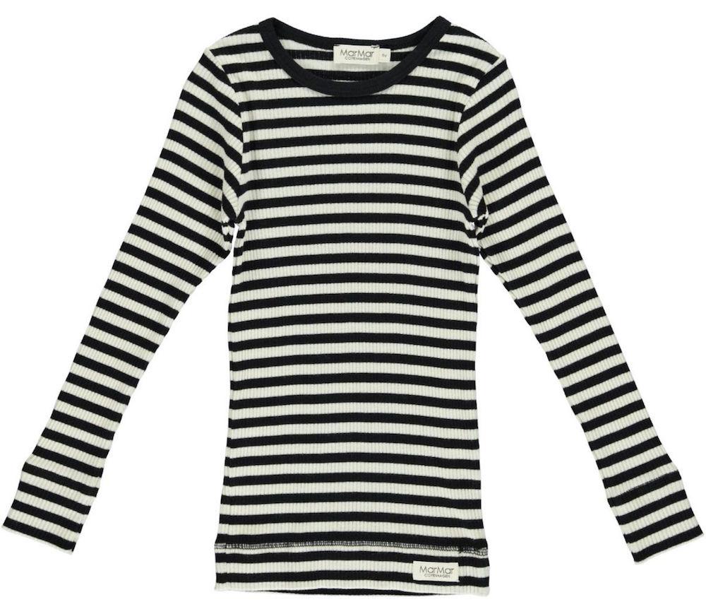 Voorkeur MarMar Tee stripes gestreept shirt lange mouw zwart-wit - Minipop ZO86