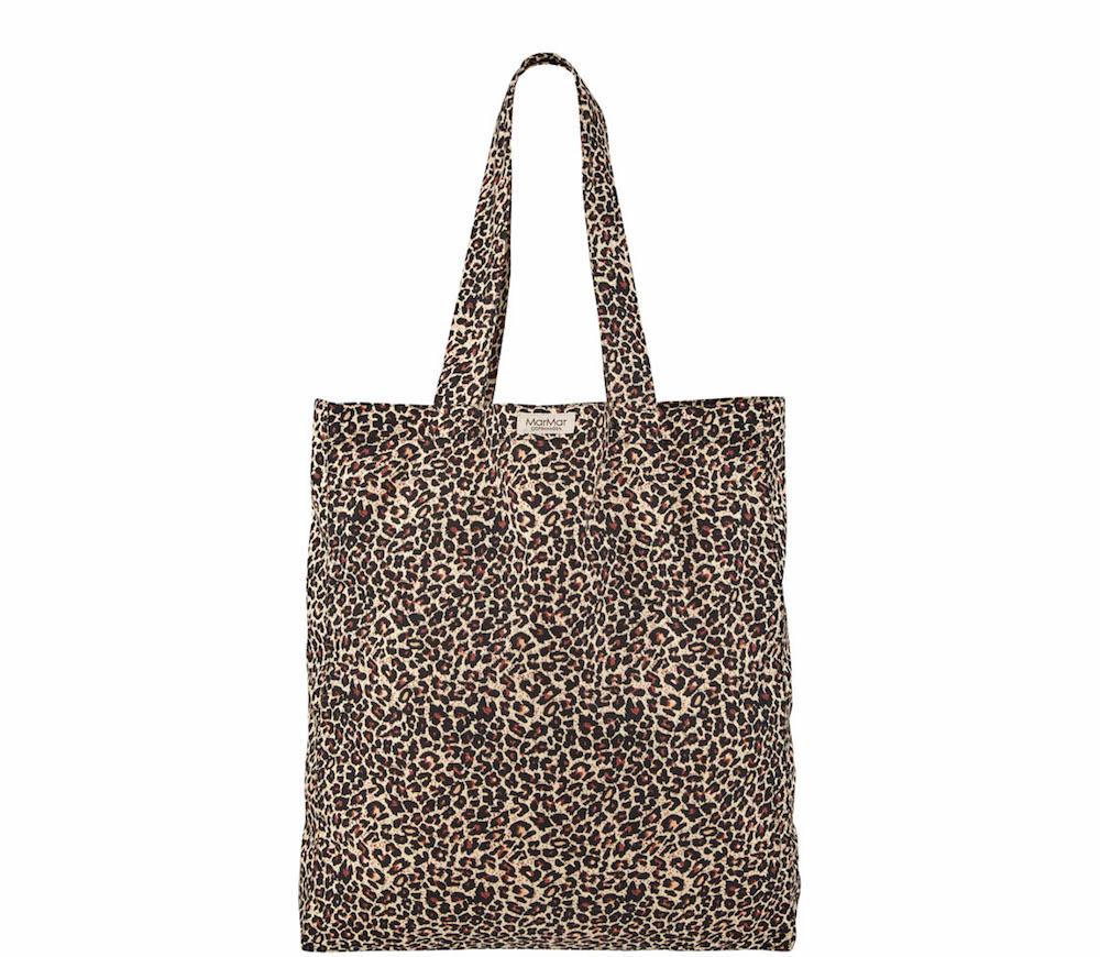 MarMar Leo shopper brown tas luipaardprint bruin - Minipop 60db792967