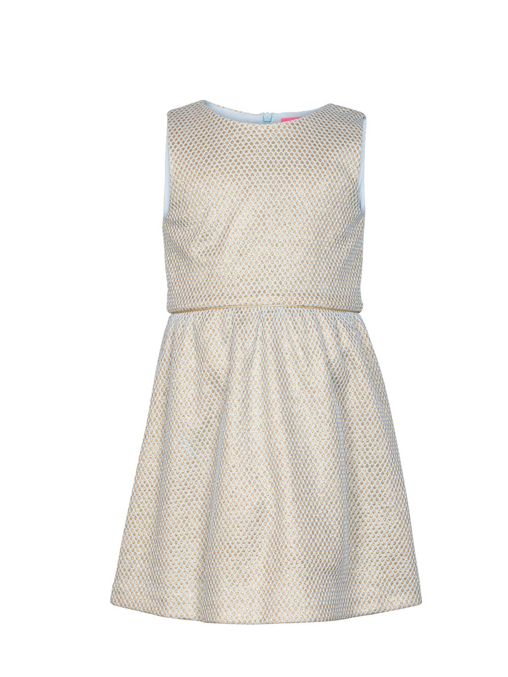 8d54d8c537712d Le Big Ireen dress jurk blauw en goud - Minipop