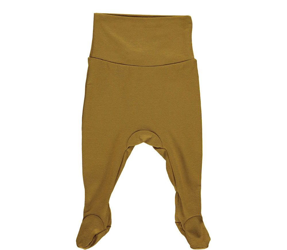 Marmar Pixa Baby Pants Golden Olive Broekje Met Voetjes Olijf Groen Minipop