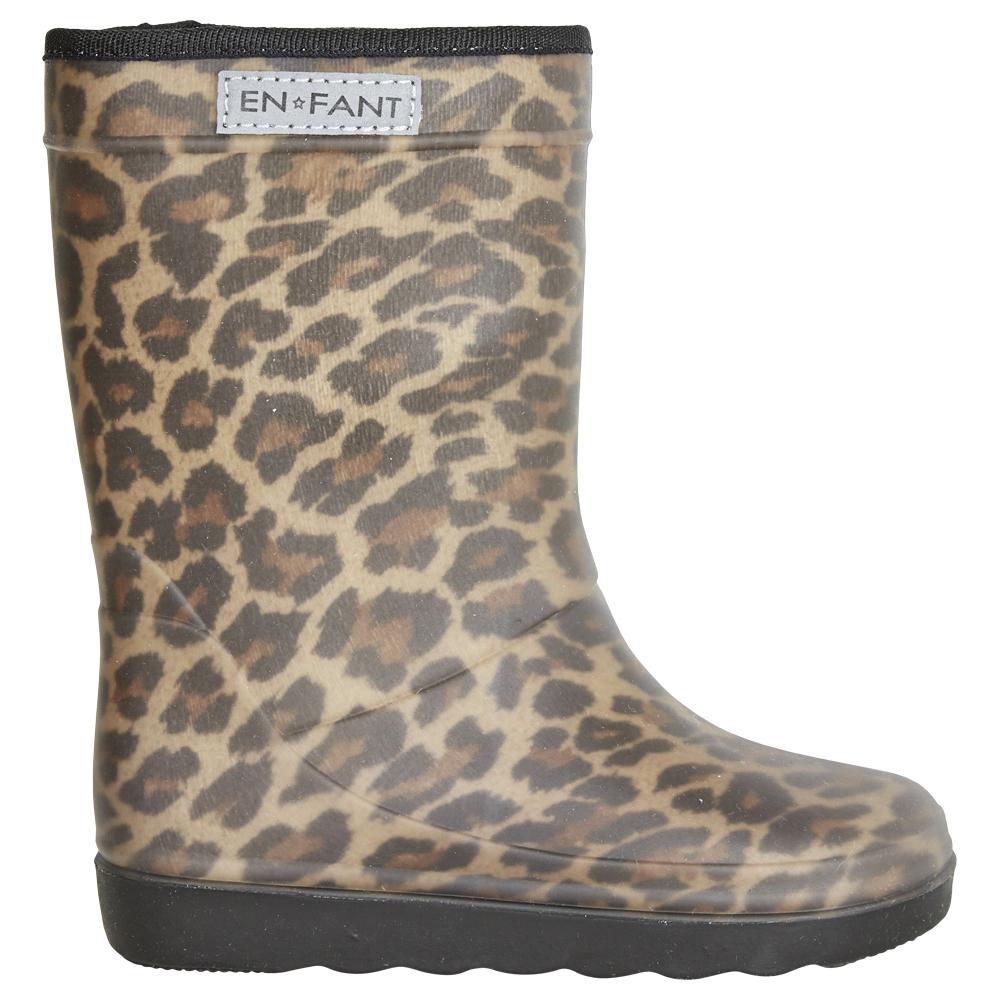 EnFant thermo boots leo brown wol gevoerde laarzen regenlaarzen luipaard bruin zwart panter